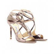 Jimmy Choo Lance 金属色凉鞋